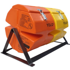 YOLO Compost Tumbler, small, double